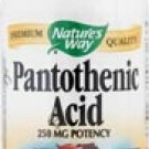 Nature's Way Pantothenic Acid -- 250 mg - 100 Capsules