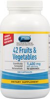 Vitacost 42 Fruits & Vegetables -- 1,400 mg per serving - 180 Capsules