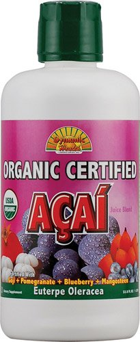 Dynamic Health Organic Certified Acai Berry Juice Blend -- 33.8 fl oz