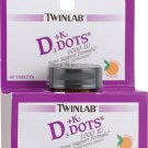 Twinlab D3 plus K2 Dots™ Tangerine -- 1000 IU - 60 Tablets