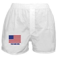 Personalized Men's Boxer US Flag S/M/L/XL