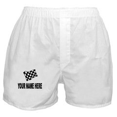 NASCAR RACING FLAG Men's White Boxer S/M/L/XL