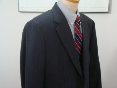 Brooks Brothers Men's 2 Button Single Breasted Dark Gray Wool Suit - sz.45 L/36 W x 33