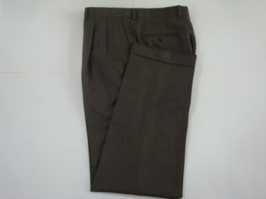 Jack Victor Men's Pleated  Light Brown Dress Pants  - sz. 36 x 33