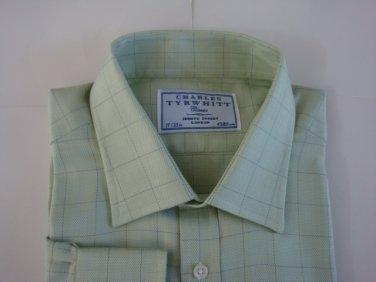 Charles Tyrwhitt Classic Fit Men's Dress  Light Green Shirt - sz. 17- 35