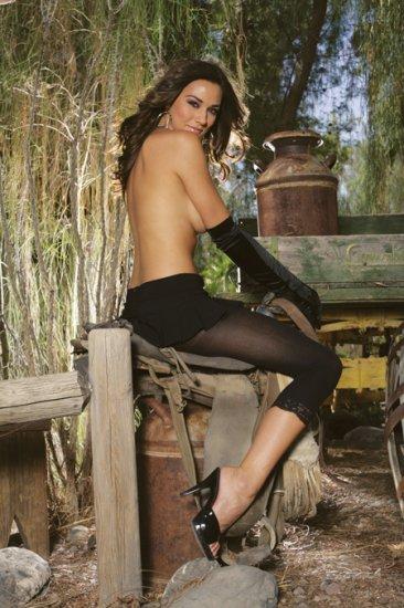 Leggings with lace trim
