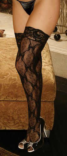 Lace thigh hi with lace top.
