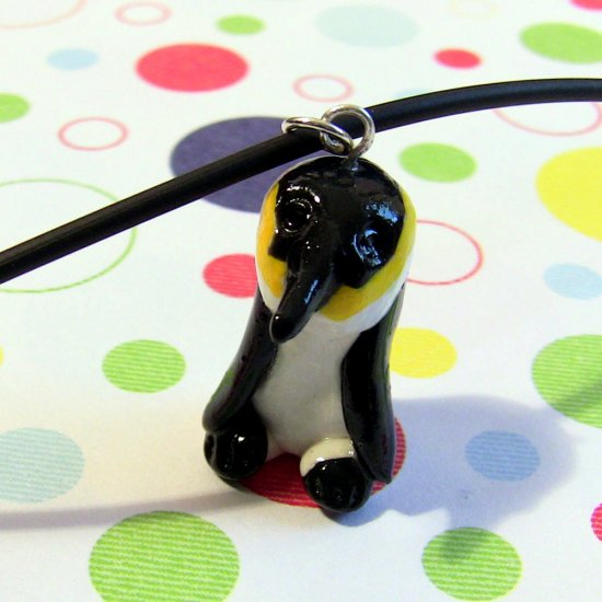 Emperor Penguin Endangered Charity Animini Necklace