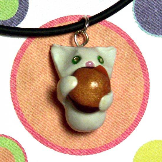 Cheezburger Kitty White Animini Necklace