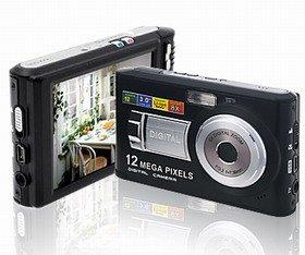 3.0 Inch LCD,8X Digital Zoom Slim 12 Mega Pixels digital camera T121 + 1GB SD card
