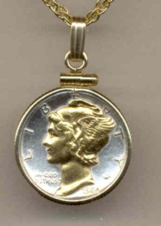 U.S. Mercury dime (minted 1916 - 1945)