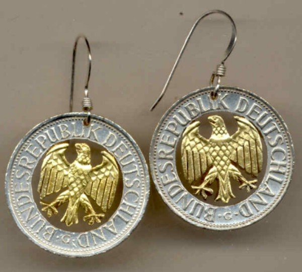 German 1 mark (Egle) copper - nickel (U.S. quarter size)