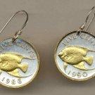 Bermuda 5 cent Angel fish (nickel size)