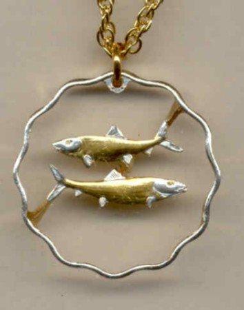 Bahamas 10 cent Bone fish (U.S. quarter size)
