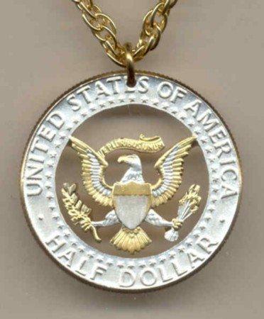 Kennedy half (Eagle & full rim) copper - nickel 1970 - date