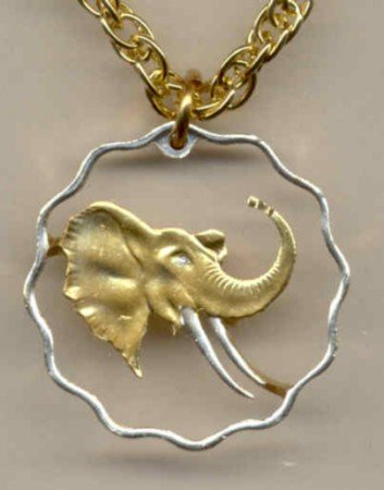 Swaziland 20 cent Elephant (a little larger than a U.S. quarter)