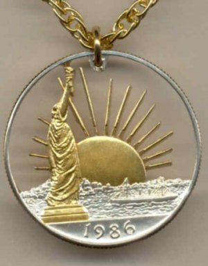 U.S. Statue of Liberty half dollar copper - nickel 1986 only