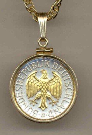 German 1 mark Eagle (quarter size)