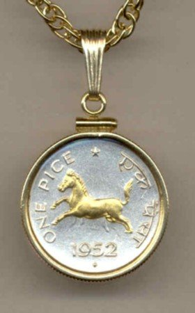 India 1 pice Horse (nickel size)