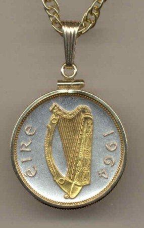 Irish 1/2 penny Harp (quarter size)
