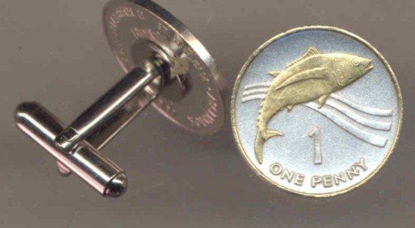 St. Helena Island Penny Tuna fish (a little smaller then a U.S. nickel)