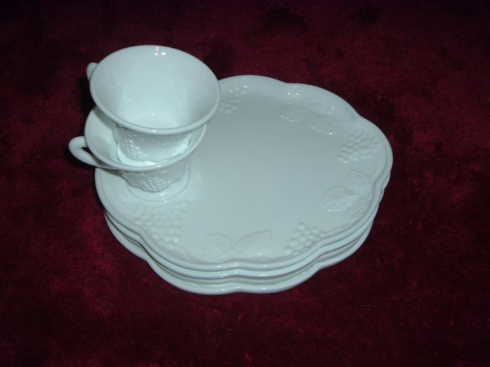 Milk Glass Plates & Cups