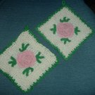 Rose Crocheted Potholders