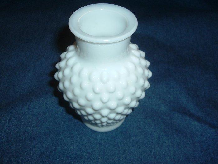 """Milk Glass 5 1/4"""" Hob Nail Vase"""