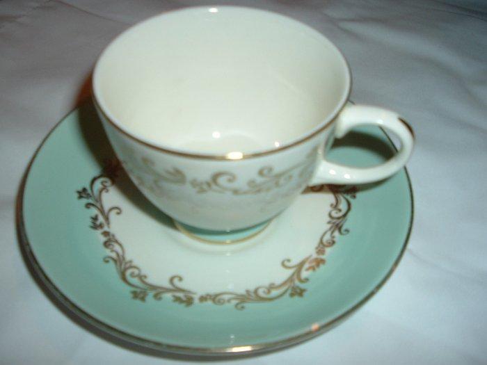 Lifetime China Gold Crown Tea Cup & Saucer