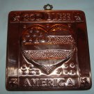 "Copper Mold ""God Bless America"" Wall Plaque"