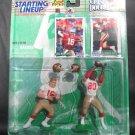 JOE MONTANA/JERRY RICE 1997 Starting Lineup - San Francisco 49ers