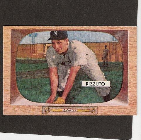 PHIL RIZZUTO - 1955 Bowman #10 - New York Yankees
