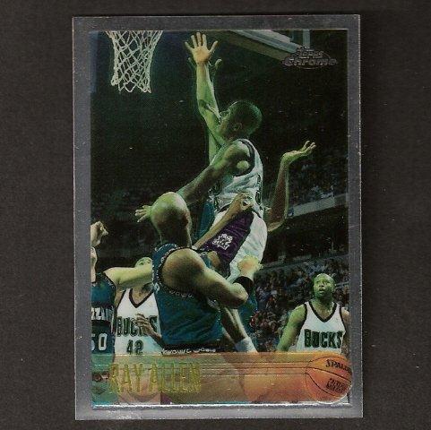 RAY ALLEN - 1996-97 Topps Chrome ROOKIE - UConn Huskies & Celtics