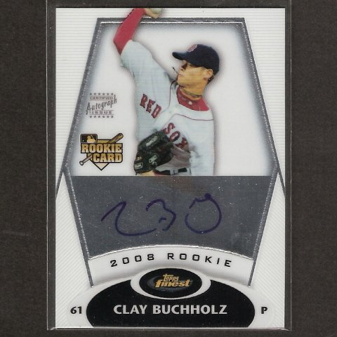 CLAY BUCHHOLZ - 2008 Topps Finest ROOKIE AUTOGRAPH - Red Sox