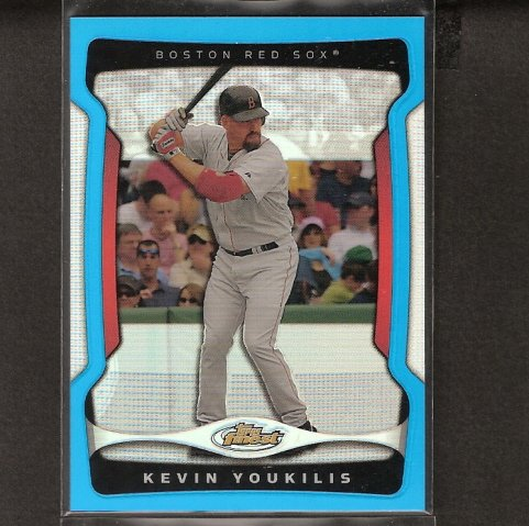 KEVIN YOUKILIS - 2009 Topps Finest BLUE REFRACTOR - Red Sox