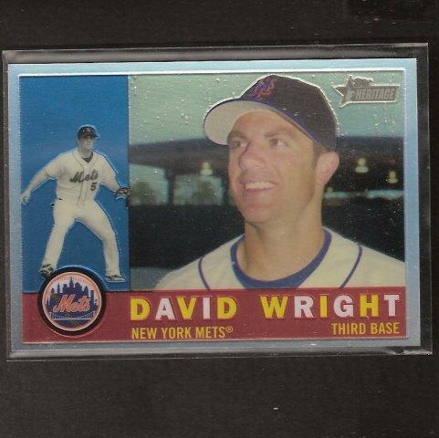 DAVID WRIGHT - 2009 Topps Heritage Chrome REFRACTOR - NY Mets
