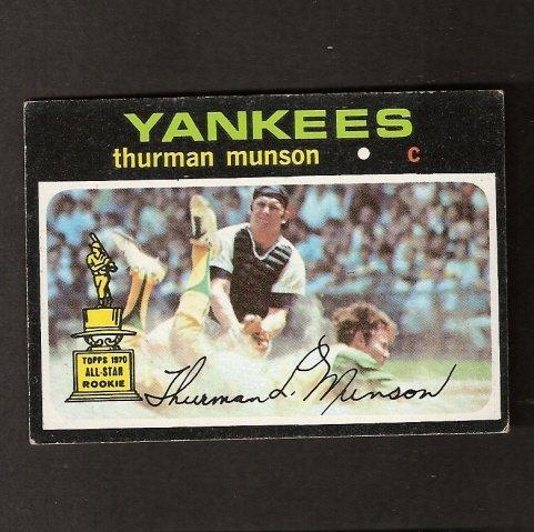 THURMAN MUNSON - 1971 Topps - New York Yankees