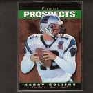 KERRY COLLINS - 1995 Upper Deck SP ROOKIE CARD - Titans, Panthers & Penn State