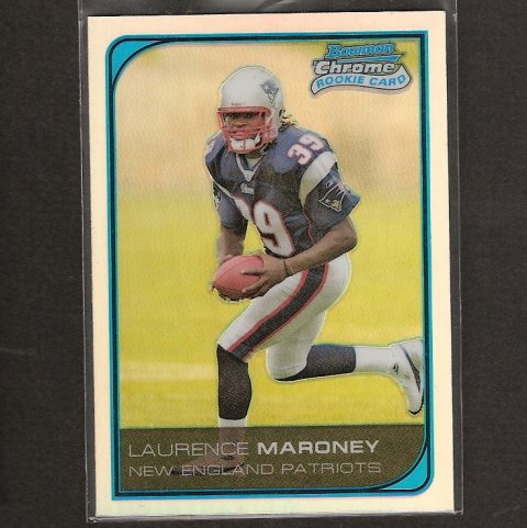 LAURENCE MARONEY - 2006 Bowman Chrome REFRACTOR RC - Patriots, Broncos & Golden Gophers