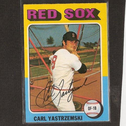 CARL YASTRZEMSKI - 1975 O-Pee-Chee - OPC - Boston Red Sox
