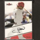 JD DREW - 2000 Fleer Fresh Ink AUTOGRAPH - Boston Red Sox