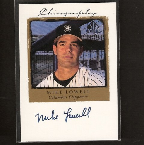 MIKE LOWELL - 1998 SP Top Prospects Chirography ROOKIE AUTOGRAPH - Red Sox