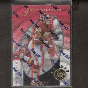TONY GONZALEZ - 1997 Pinnacle Totally Certified ROOKIE - Falcons, Chiefs & Cal Golden Bears