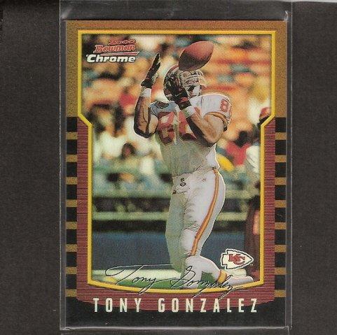TONY GONZALEZ - 2000 Bowman Chrome REFRACTOR - Falcons & Cal Golden Bears