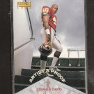 STEPHEN DAVIS - 1996 Pinnacle Rookie ARTIST'S PROOF - Redskins, Panthers & Auburn