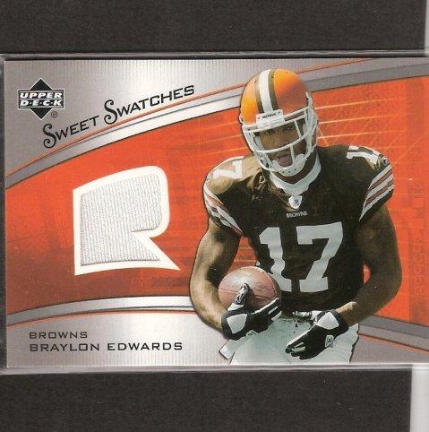 BRAYLON EDWARDS - 2005 Upper Deck JERSEY Rookie Card - Michigan Wolverines & 49ers