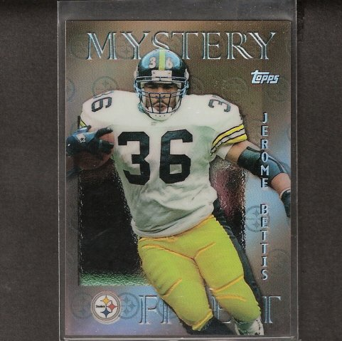 JEROME BETTIS - 1990 Topps Finest MYSTERY REFRACTOR #M14 - Pittsburgh Steelers