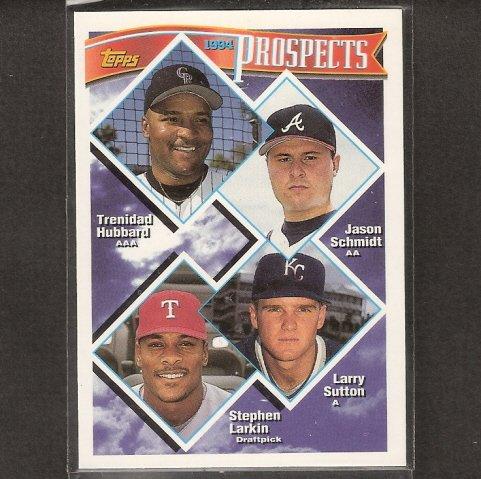 JASON SCHMIDT - 1994 Topps Traded  Rookie -Pirates, Giants,  LA Dodgers