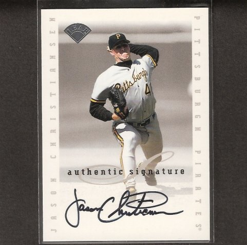 JASON CHRISTIANSEN - 1996 Leaf Signature AUTOGRAPH - Pirates, Cardinals, Giants