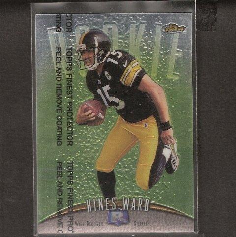 HINES WARD - 1998 Topps Finest Rookie - Steelers & Georgia Bulldogs